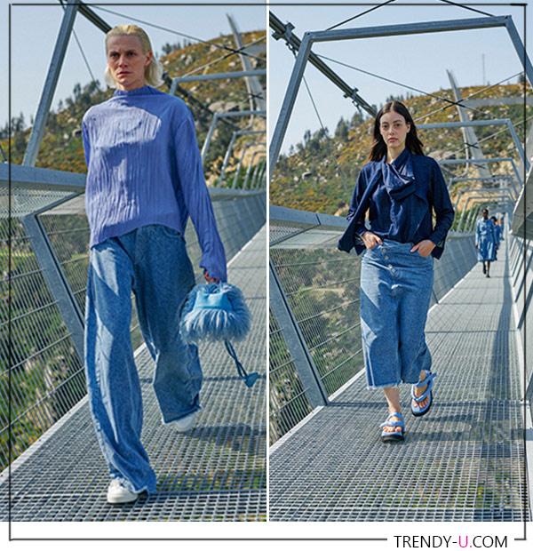 Джинсовая одежда из осенне-зимней коллекции Marques' Almeida
