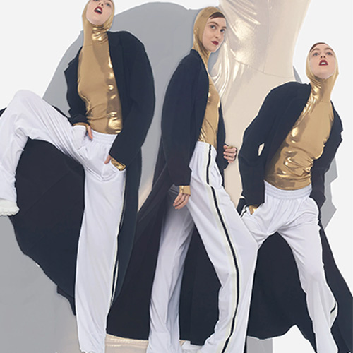 Белые спортивные брюки Norma Kamali 2021-2020