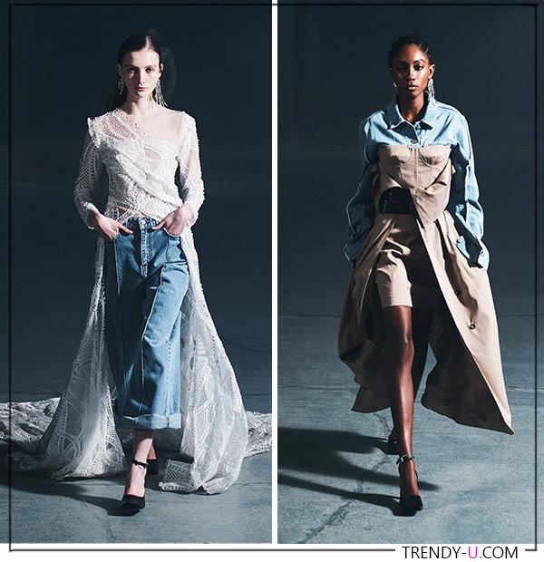 Актуальная джинсовая одежда в осенне-зимней коллекции Rokh 2021