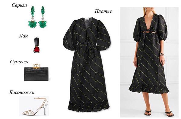 Платье и аксессуары для образа в стиле смарт кэжуал