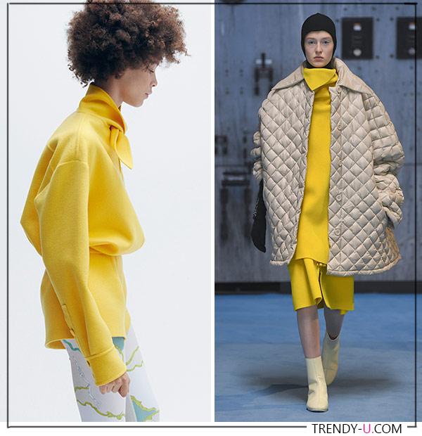 Желтый - один и з самых модных цветов 2021. Образы отEmilio Pucci и Raf Simons