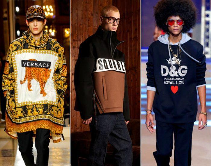 Модная мужская одежда Versace, Disquared2 и Dolce & Gabbana  осень-зима 2021-2022