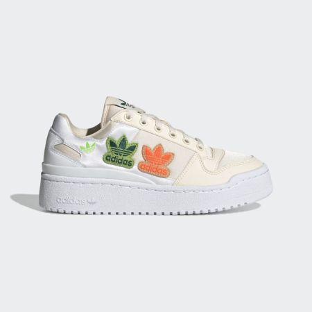 Кроссовки Adidas на широкой белой подошве
