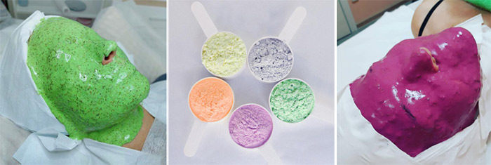 Питательные альгинатные маски для омоложения, лифтинга и увлажнения кожи