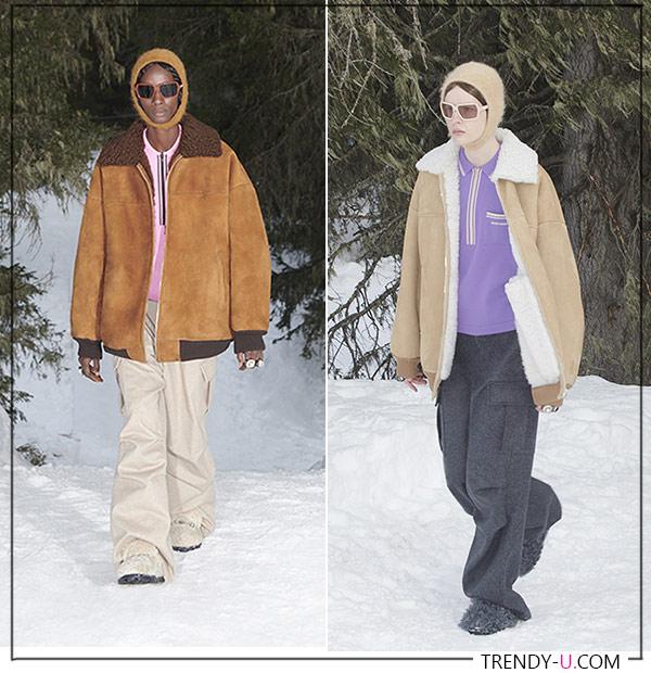 Куртки-дубленки в стиле 90-х от Miu Miu FW 2021