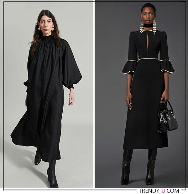 Черные платья от Andrew Gn Rachel Comey - must have осени и зимы 2021