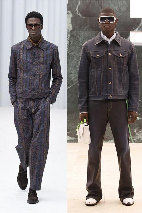 Мужские джинсовые костюмы осень-зима 2021-2022 от Paul Smith and Louis Vuitton