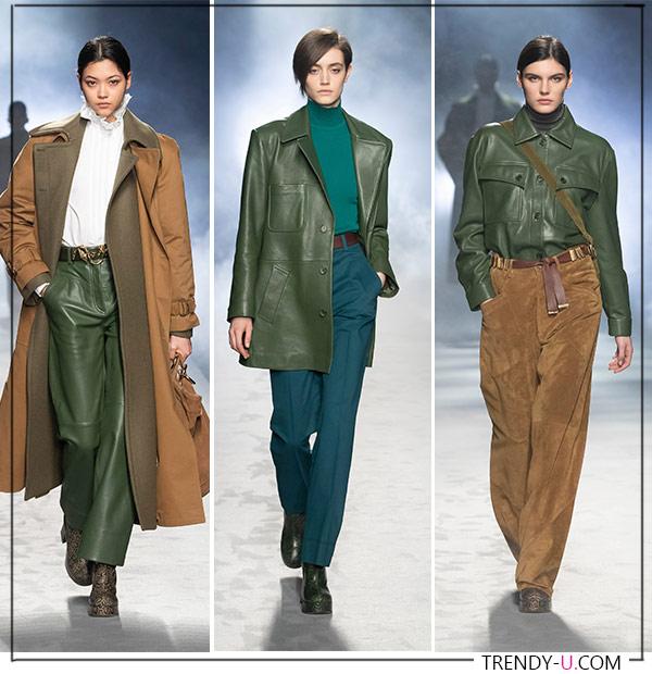 Что-нибудь из кожи: брюки, рубашка или жакет Alberta Ferretti FW 2021
