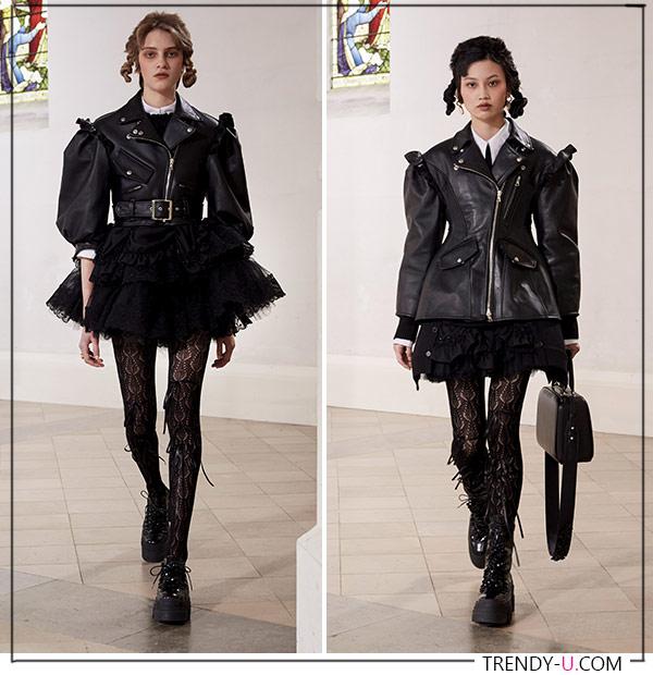 Кожаные куртки от Simone Rocha FW 2021-22
