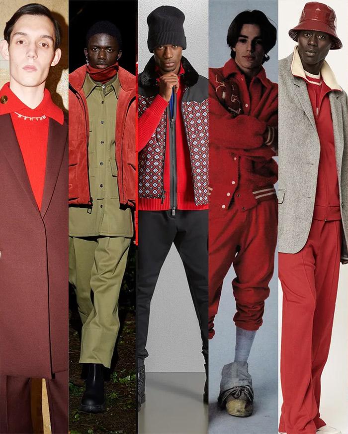 Модный цвет мужской одежды этой осенью - бордовый
