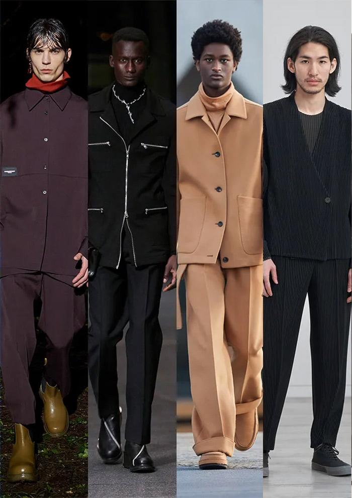 Мужские костюмы в повседневном стиле Wooyoungmi, GMBH, Ermenegildo Zegna, Homme Plissé Issey Miyake FW 2021-22