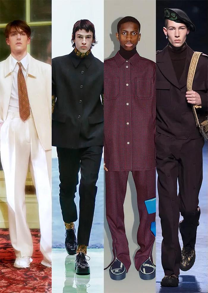 Мужские костюмы Casablanca, Prada, OAMC и Dior осень-зима 2021-2022