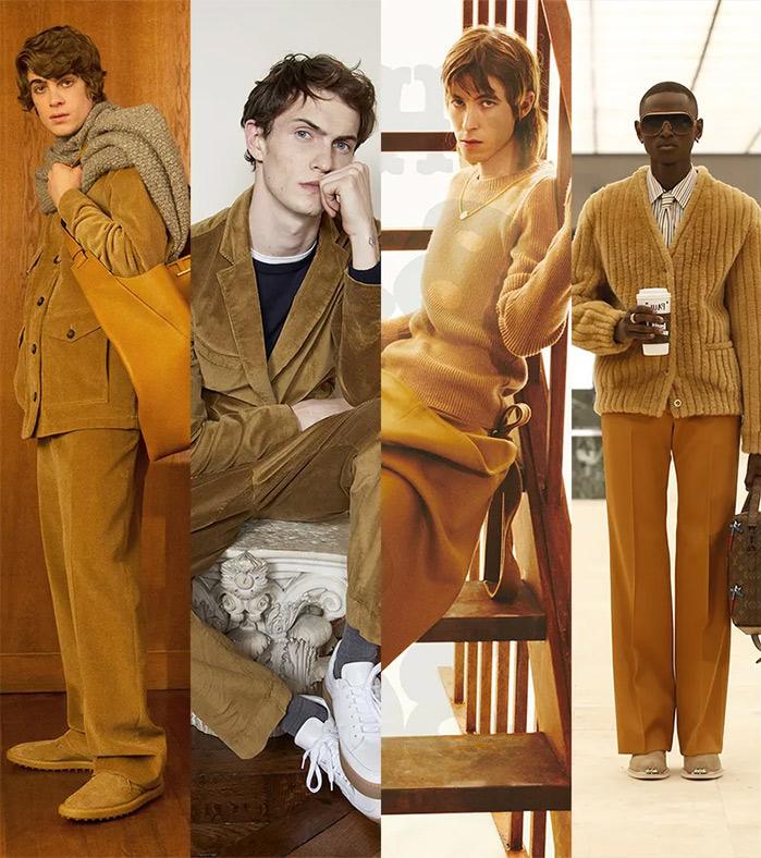 Модная мужская одежда осень-зима 2021-2022: цвет camel - самый популярный