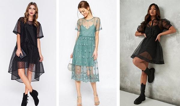 Полупрозрачные платья на Новый год 2022