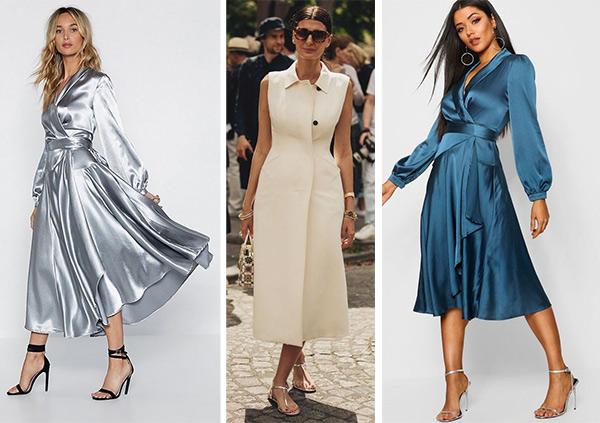 Платья на запах в романтическом и деловых стилях. Выбирайте свой