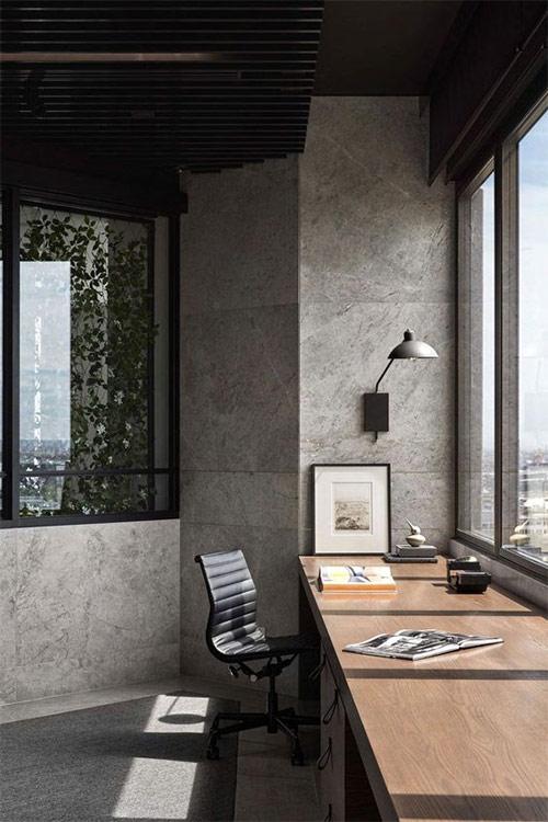 Рабочее пространство на балконе