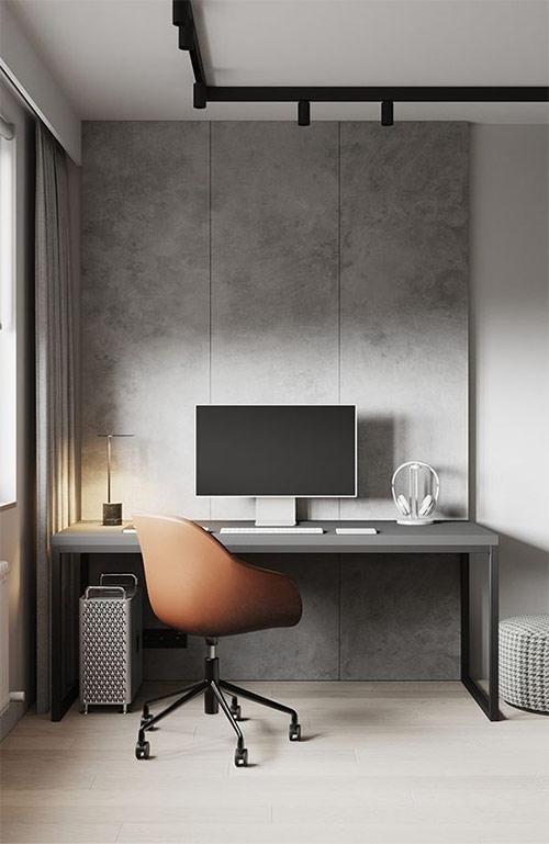 Рабочее место дома в минималистическом стиле