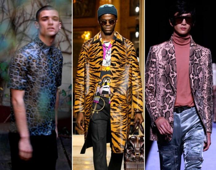 Мужская одежда  с анималистическими принтами 2021-2022
