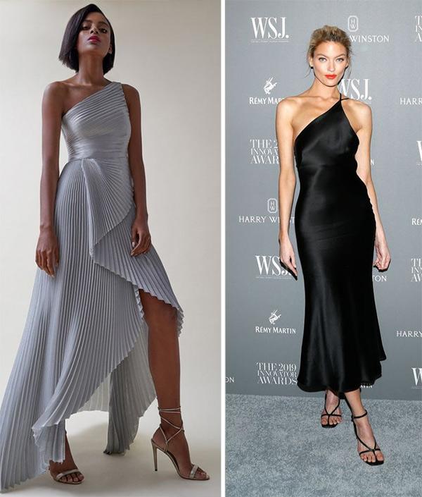 Платье асимметричного кроя для новогодней вечеринки 20222