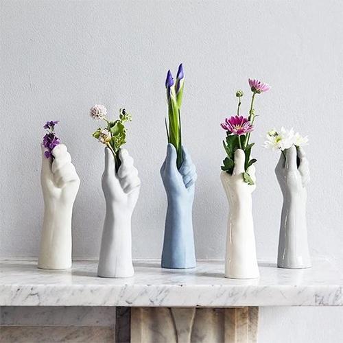 Декоративные вазы из гипса, 5 шт.