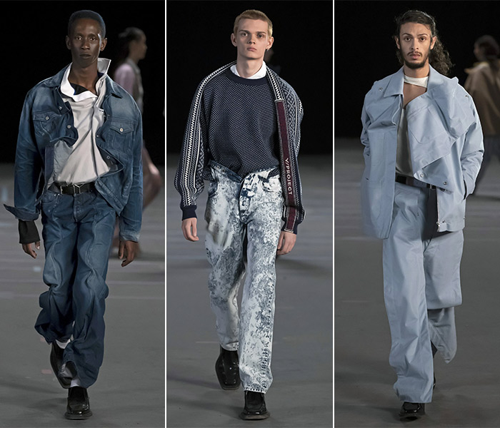 Джинсы и джинсовые костюмы из коллекции Y / Project FW 2021
