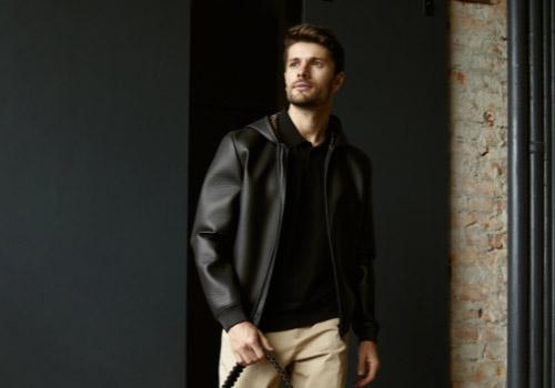 Кожаная мужская куртка 2021