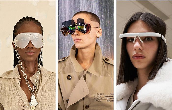 Модные очки от солнца от Acne Studios, Vetements and Coperni