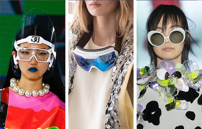 Солнцезащитные очки с белыми оправами из осенне-зимних коллекций Dolce Gabbana, Louis Vuitton и Del Core