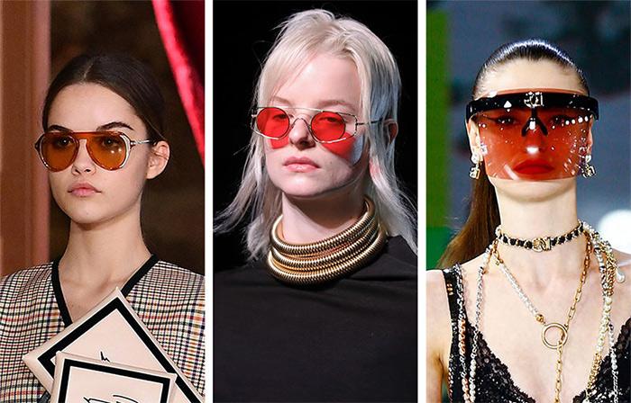 Очки с красными стеклами от Genny, Sportmax и Dolce Gabbana FW 2021-2022