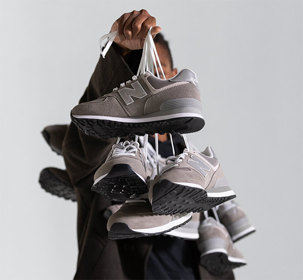 Кроссовки new balance серого, самого популярного в линейке цвета