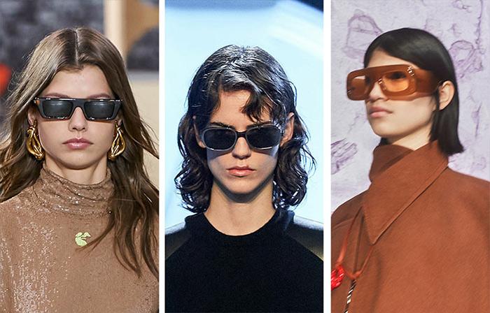 Модные оправы солнечных очков из коллекций Off White, Salvatore Ferragamo и Acne Studio для осенне-зимнего сезона 2021-2022