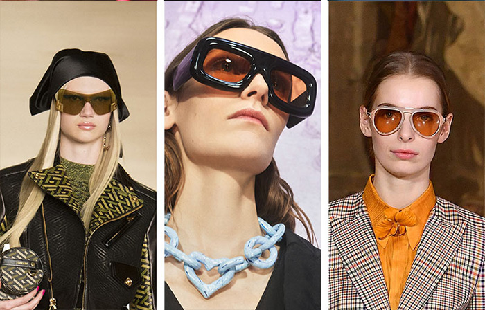 Солнцезащитные очки из осенне-зимних коллекций Versace, Acne Studio и Genny