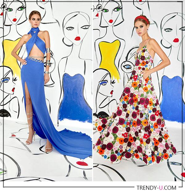 Летние платья из коллекции Alice & Olivia весна-лето 2022