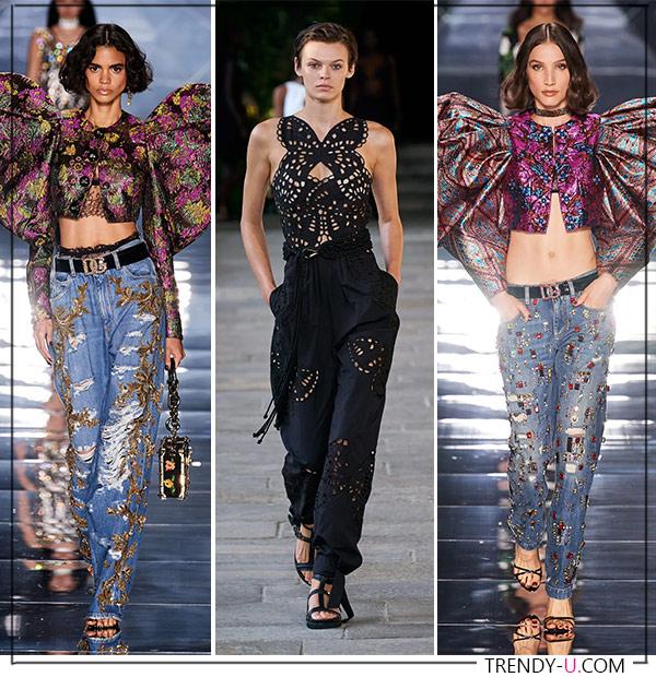 Бабочки в коллекциях Dolce Gabbana Alberta Ferretti SS 2022