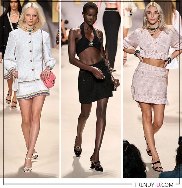 Мини-юбки в коллекции Chanel SS 2022