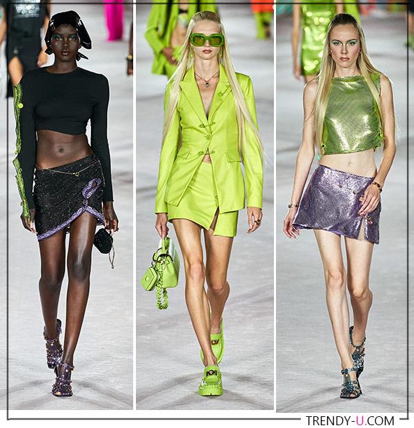 Мини-юбки от Versace SS 2022