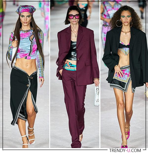 Модные образы от Versace для весны и лета 2022