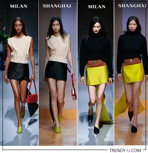 Мини-юбки от Prada