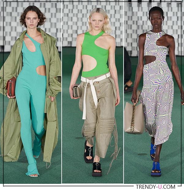 Вырезы на одежде из коллекции Stella McCartney весна-лето 2022