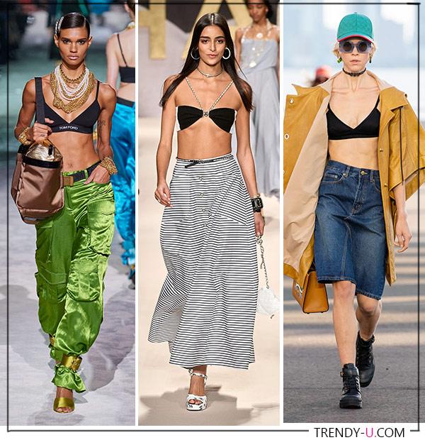 Бюстгальтер вместо блузки или топа в коллекции Tom Ford, Chanel и Coach весна-лето 2022